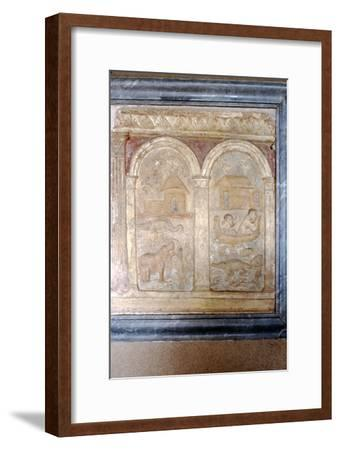 Nile animals on panel in the Vatican-Unknown-Framed Giclee Print