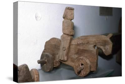 Coptic Wooden Wheeled toy, Horse & rider, c640-1500-Unknown-Stretched Canvas Print