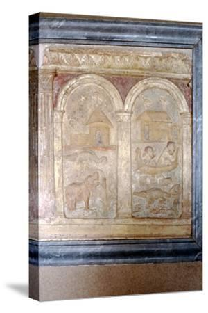 Nile animals on panel in the Vatican-Unknown-Stretched Canvas Print