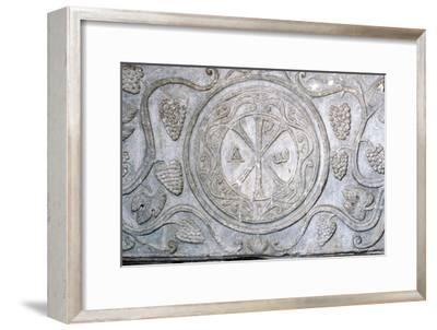 Chi-Rho symbol from Coptic sarcophagus, 7th century-Unknown-Framed Giclee Print