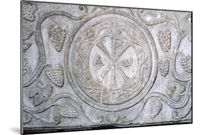 Chi-Rho symbol from Coptic sarcophagus, 7th century-Unknown-Mounted Giclee Print