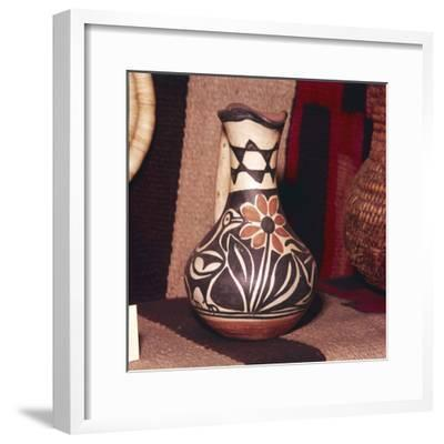 Decorated Pot, Zuni Tribe, Pueblo Indians. North America-Unknown-Framed Giclee Print
