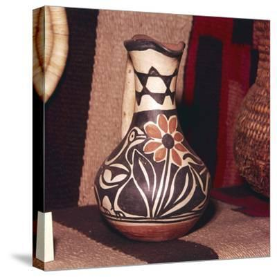 Decorated Pot, Zuni Tribe, Pueblo Indians. North America-Unknown-Stretched Canvas Print