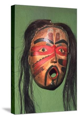 Kwakiutl Face-Mask, Pacific Northwest Coast Indian-Unknown-Stretched Canvas Print