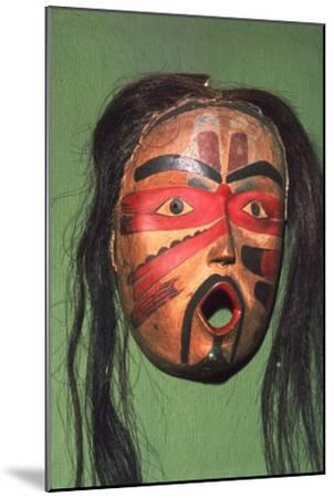 Kwakiutl Face-Mask, Pacific Northwest Coast Indian-Unknown-Mounted Giclee Print