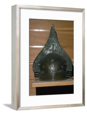 Etruscan Bronze Crested Helmet, c7th century BC-Unknown-Framed Giclee Print