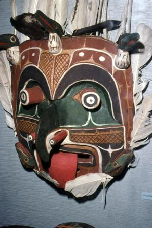 Spirit of the Earthquake, Nootka Mask, Pacific Norwest Coast American Indian-Unknown-Framed Giclee Print