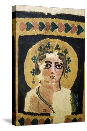 Coptic Textile, Portrait of Dionysus. 5th Century-Unknown-Stretched Canvas Print