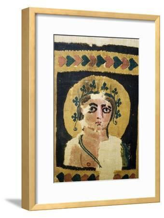 Coptic Textile, Portrait of Dionysus. 5th Century-Unknown-Framed Giclee Print
