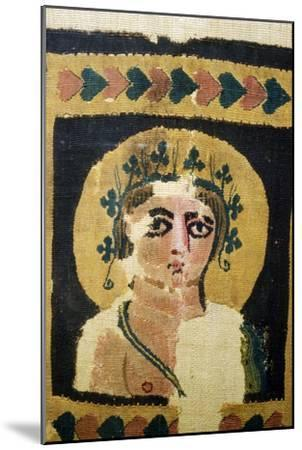 Coptic Textile, Portrait of Dionysus. 5th Century-Unknown-Mounted Giclee Print