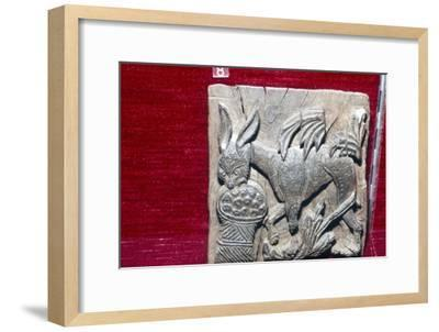 Coptic Woodcarving of Donkey, 6th century-Unknown-Framed Giclee Print