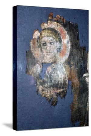 Coptic Textile Head of Christ, Painting on Linen, Egypt, 6th century-Unknown-Stretched Canvas Print