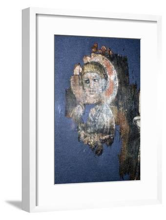 Coptic Textile Head of Christ, Painting on Linen, Egypt, 6th century-Unknown-Framed Giclee Print