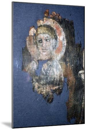 Coptic Textile Head of Christ, Painting on Linen, Egypt, 6th century-Unknown-Mounted Giclee Print