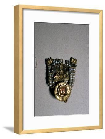 Etruscan Gold Ear-ring with pendant, 3rd century BC-Unknown-Framed Giclee Print