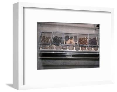 Egyptian Food from tombs. Grain, bread, beans as Funerary offerings-Unknown-Framed Photographic Print