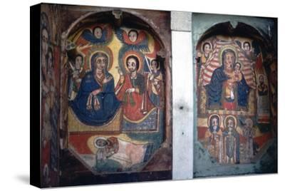 Christian Church wall painting, Ethopia-Unknown-Stretched Canvas Print