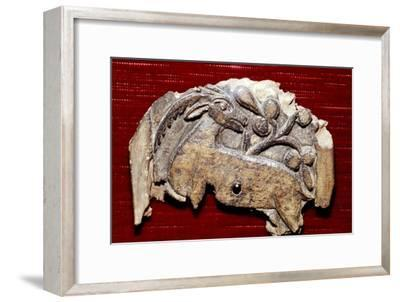 Coptic Woodcarving of Antelope, 5th century-Unknown-Framed Giclee Print