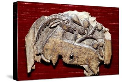 Coptic Woodcarving of Antelope, 5th century-Unknown-Stretched Canvas Print