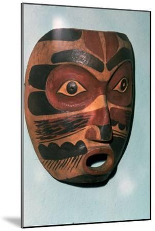 Kwakiutl Face Mask, Pacific Northwest Coast Indian-Unknown-Mounted Giclee Print