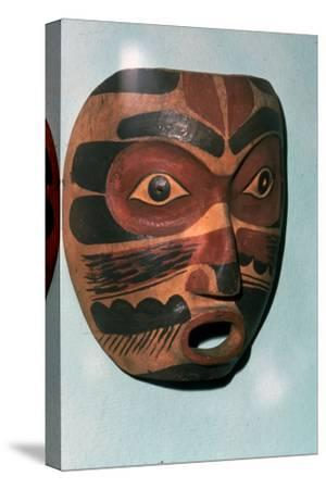 Kwakiutl Face Mask, Pacific Northwest Coast Indian-Unknown-Stretched Canvas Print
