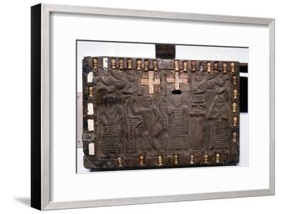 Coptic Woodcarving with Angels, Adam and Eve and Saints c 6th-8th century-Unknown-Framed Giclee Print
