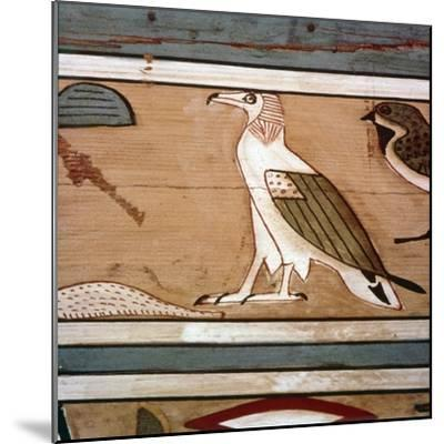 Vulture on the inner wall of coffin of steward, Seni from El Bersha, Egypt, c2000 BC-Unknown-Mounted Giclee Print