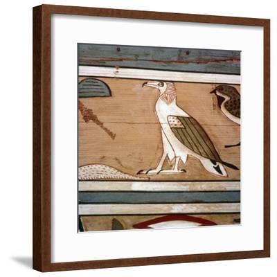 Vulture on the inner wall of coffin of steward, Seni from El Bersha, Egypt, c2000 BC-Unknown-Framed Giclee Print