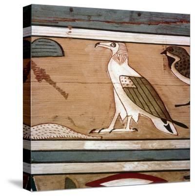 Vulture on the inner wall of coffin of steward, Seni from El Bersha, Egypt, c2000 BC-Unknown-Stretched Canvas Print