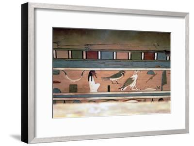 Egyptian Hieroglyphs on inner wall of coffin of steward, Seni, El Bersha, Egypt, c2000 BC-Unknown-Framed Giclee Print