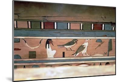Egyptian Hieroglyphs on inner wall of coffin of steward, Seni, El Bersha, Egypt, c2000 BC-Unknown-Mounted Giclee Print