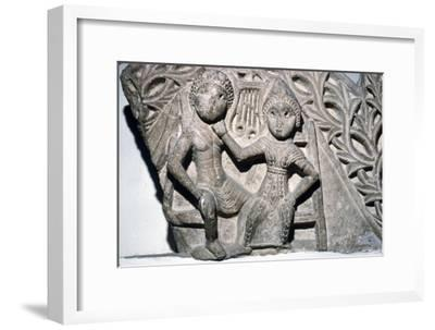 Orpheus and Euridyce, Beni-Souef, Egypt, 3rd century-Unknown-Framed Giclee Print