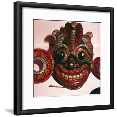 Mask from Java-Unknown-Framed Giclee Print