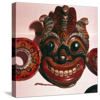 Mask from Java-Unknown-Stretched Canvas Print