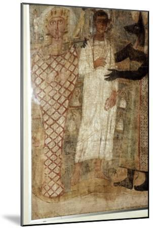 The Deceased and his Mummy protected by Anubis, Egypt, 3rd century-Unknown-Mounted Giclee Print