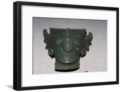 Chinese Jade Face, Neolithic period, c2500 BC-Unknown-Framed Giclee Print