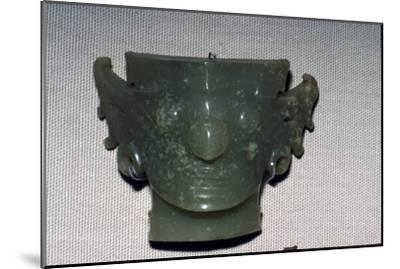 Chinese Jade Face, Neolithic period, c2500 BC-Unknown-Mounted Giclee Print