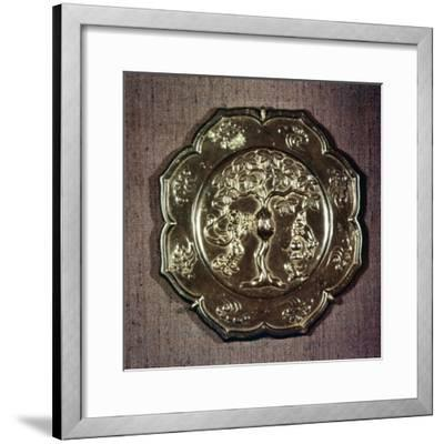 Chinese Bronze Mirror, T'ang Dynasty, 618-906-Unknown-Framed Giclee Print