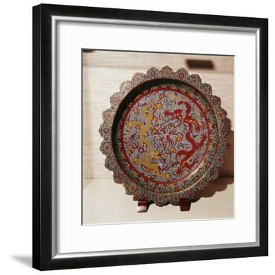 Cloisonne Enamel Dish, Chinese-Unknown-Framed Giclee Print