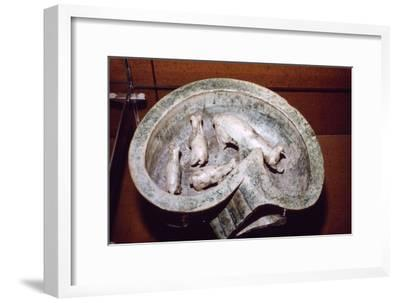 Chinese Pottery Model of Pigs in a Pigsty, 1st-3rd century-Unknown-Framed Giclee Print