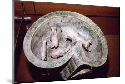 Chinese Pottery Model of Pigs in a Pigsty, 1st-3rd century-Unknown-Mounted Giclee Print