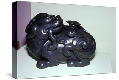 Chinese Jade Lion, symbolises energy for Taoists-Unknown-Stretched Canvas Print