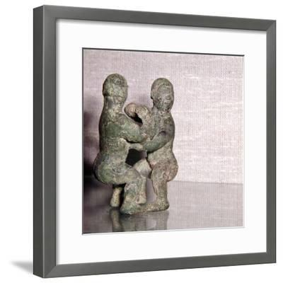 Chinese Bronze Wrestlers, Late Zhou Dynasty, 4th century BC-3rd century BC-Unknown-Framed Giclee Print