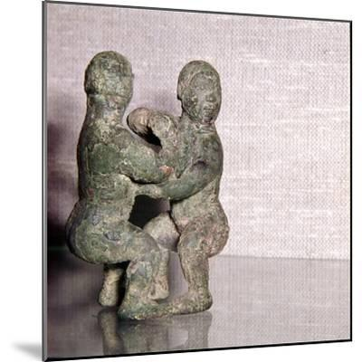 Chinese Bronze Wrestlers, Late Zhou Dynasty, 4th century BC-3rd century BC-Unknown-Mounted Giclee Print