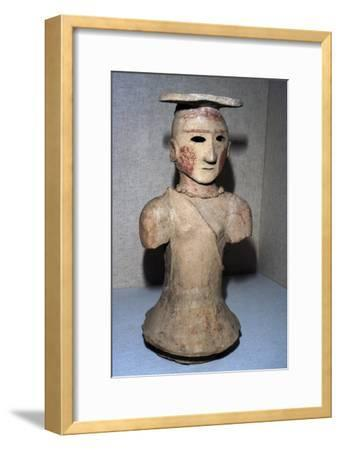Japanese Haniwa figure of Shamaness Tomb-figure, 5th-6th century-Unknown-Framed Giclee Print
