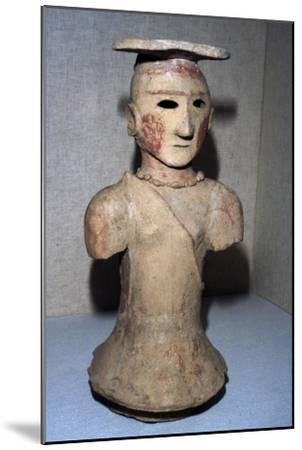 Japanese Haniwa figure of Shamaness Tomb-figure, 5th-6th century-Unknown-Mounted Giclee Print