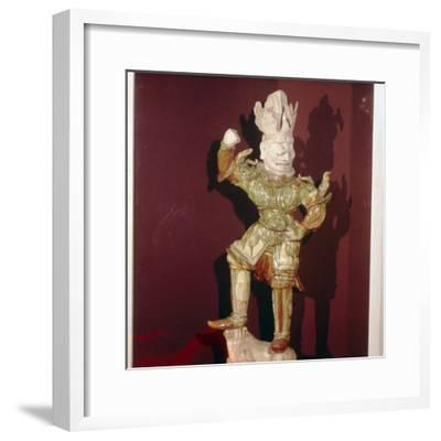 Chinese Tomb Guardian, T'ang Dynasty, 7th-10th century-Unknown-Framed Giclee Print