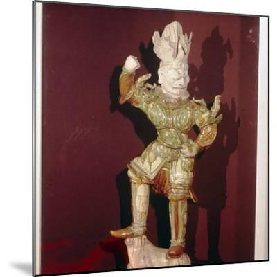 Chinese Tomb Guardian, T'ang Dynasty, 7th-10th century-Unknown-Mounted Giclee Print