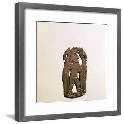 Bronze Plaque, Kama River Tribes, 3rd century BC-8th century-Unknown-Framed Giclee Print