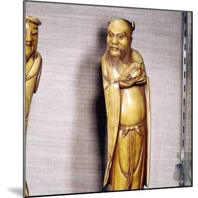 The Taoist Immortal, Chung Li Ch'Uan, Chinese Ivory, Ming Dynasty, 17th century-Unknown-Mounted Giclee Print